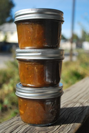 Green Tomato and Apple Chutney