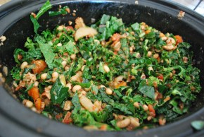 Kale, Black Eyed Peas, and Bacon